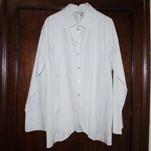 White with black stripe MATTHILDUR button down